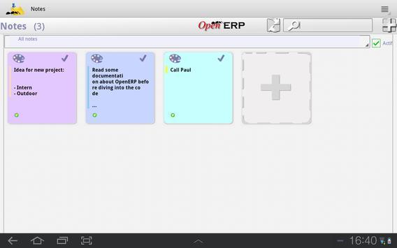 OpenERP Notes screenshot 4
