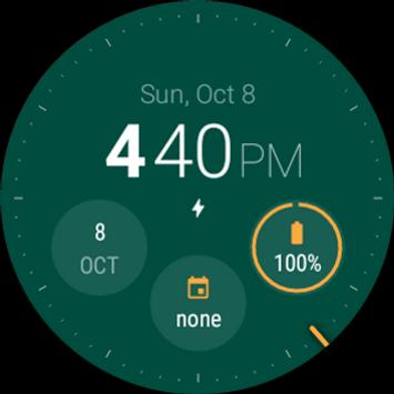 Material Style Watch Face (Unreleased) apk screenshot