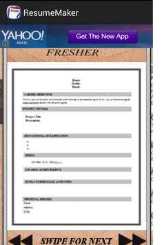 auto resume generator apk screenshot - Auto Resume Maker