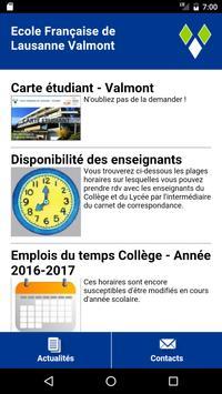 Ecole de Lausanne Valmont poster