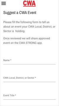 CWA STRONG apk screenshot