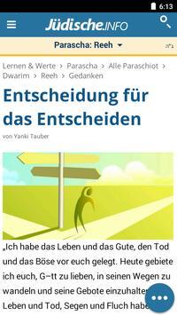 Jüdische.info - Chabad.org auf Deutsch screenshot 1