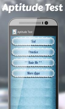 Aptitude Test poster