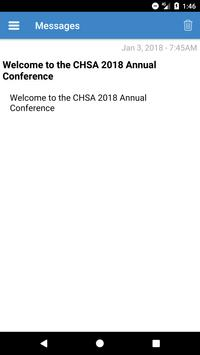CHSA Events apk screenshot