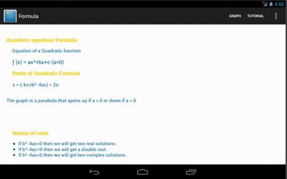 Quadratic Equation Solver screenshot 11
