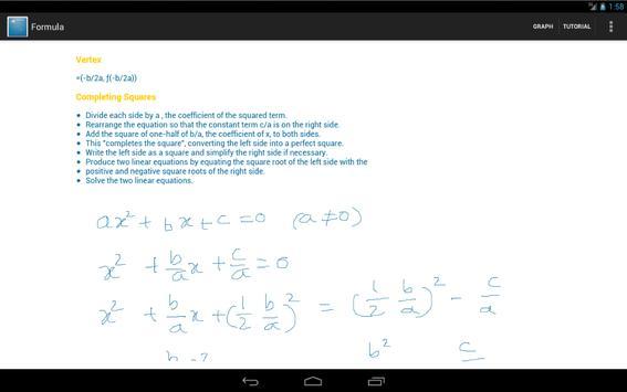 Quadratic Equation Solver screenshot 7