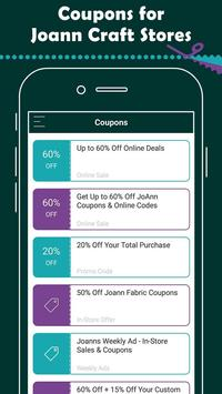Coupons for Joann Fabrics screenshot 1