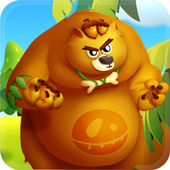angry bear run 3D icon