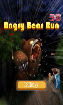 angry bear run 3D poster