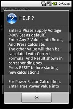3 PHASE POWER CALCULATOR screenshot 3