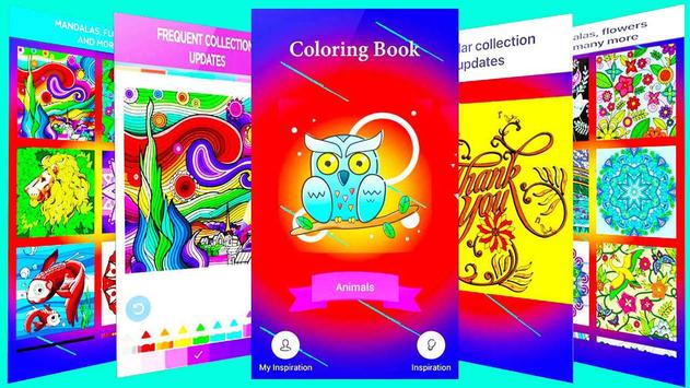 Coloring Book & Adult poster