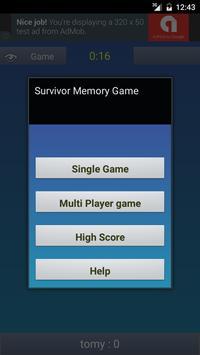 Memory Game Survivor apk screenshot