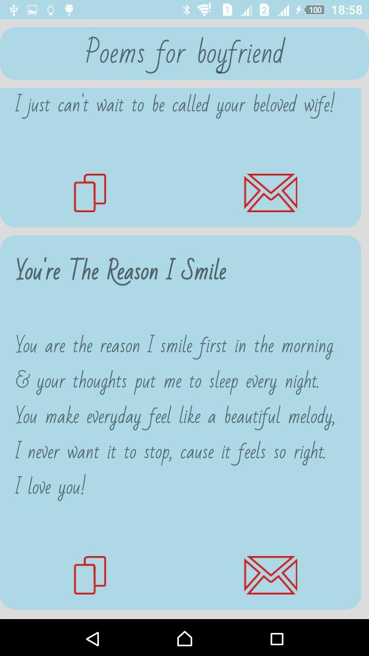 Romantic poem for boyfriend