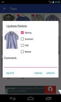 MyWardrobe - Logging the dress apk screenshot