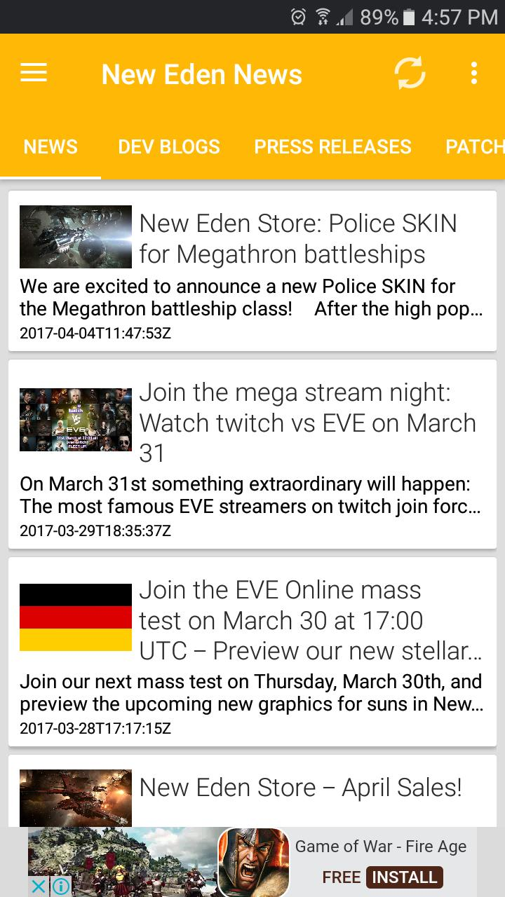 New Eden News for Android - APK Download