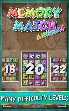 Kids Memory Match Animals Game screenshot 1