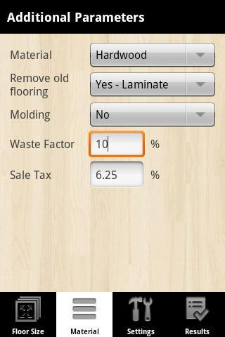 Flooring Calculator Pro Pour Android