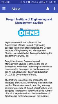 DIEMS App screenshot 1