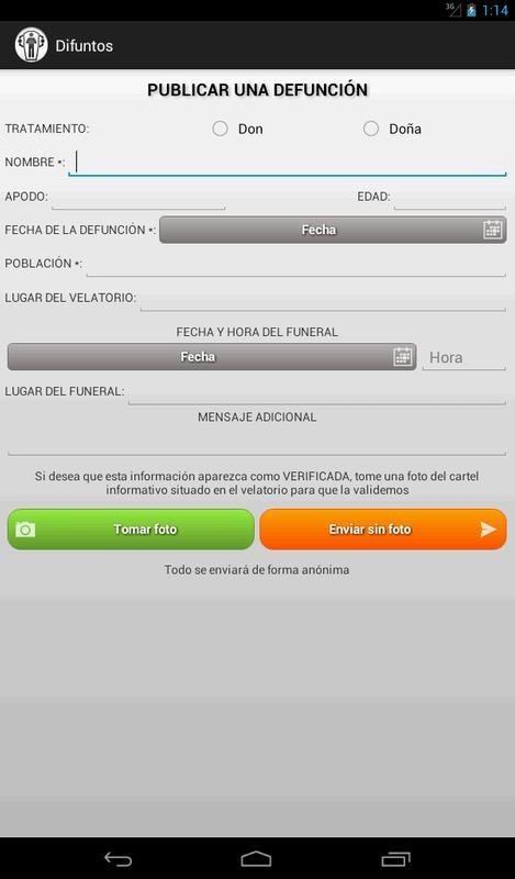 Difuntos Esquelas Funerales Für Android Apk Herunterladen