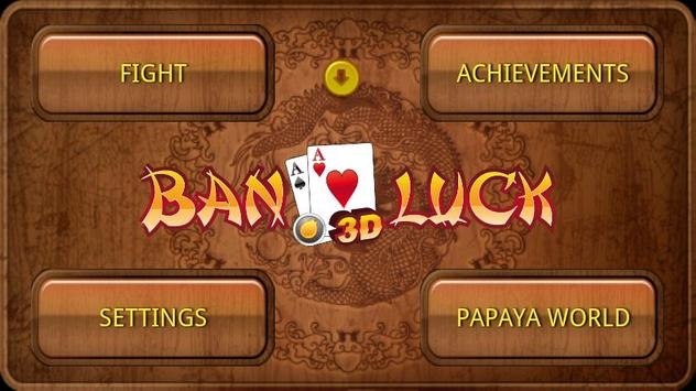 Ban Luck 3D Chinese blackjack poster