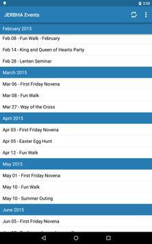 JERBHA Events FREE apk screenshot