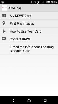 DRWF Drug Discount Card App poster