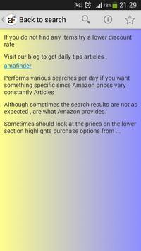 Bargains on Amazon apk screenshot
