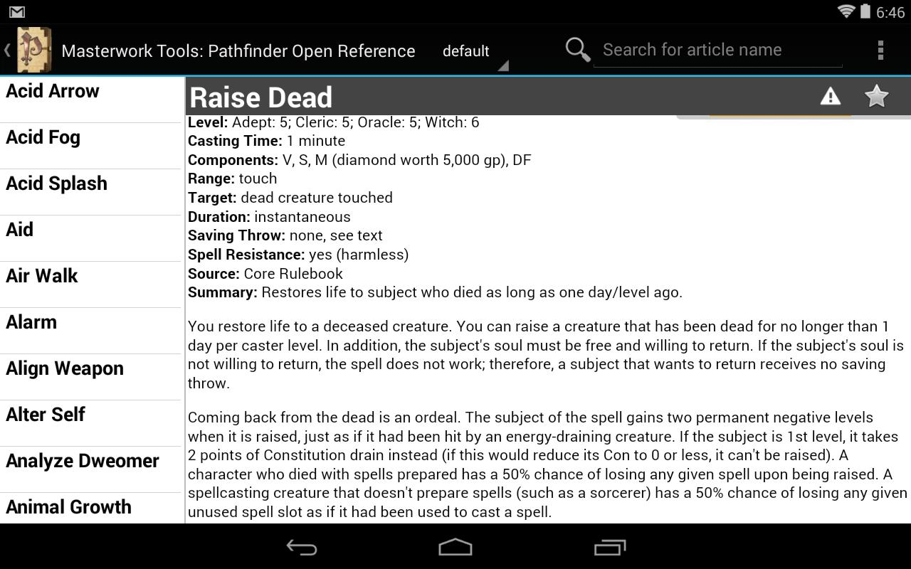 Pathfinder Open Reference for Android - APK Download