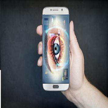 eye scanner app_locker Simulate prank screenshot 2