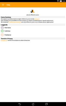 JobList - offerte di Lavoro apk screenshot