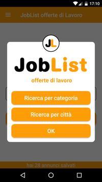 JobList - offerte di Lavoro poster