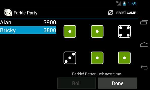 Farkle Party apk screenshot