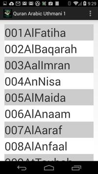 Quran Arabic Uthmani 1 apk screenshot