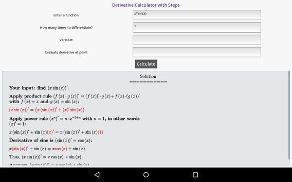 Derivative Calculator screenshot 1