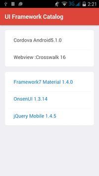 UI Framework Catalog poster