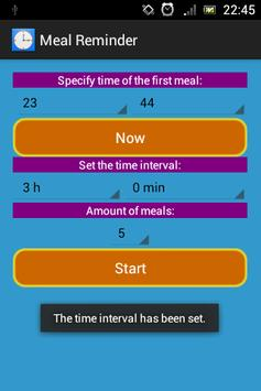Meal Interval Reminder apk screenshot