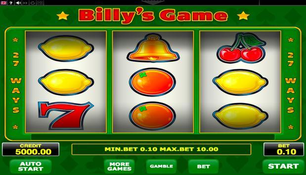 Billys Game poster