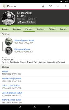 FamilySearch Tree screenshot 1