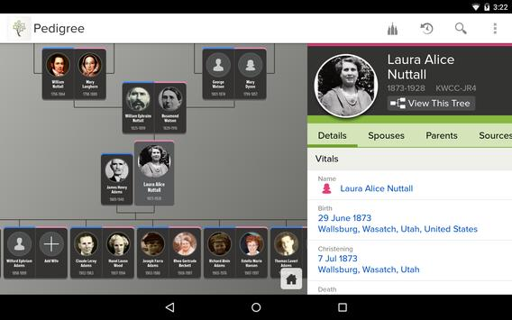 FamilySearch Tree apk screenshot