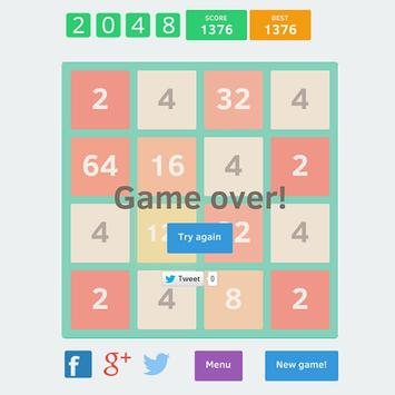 Open 2048 apk screenshot