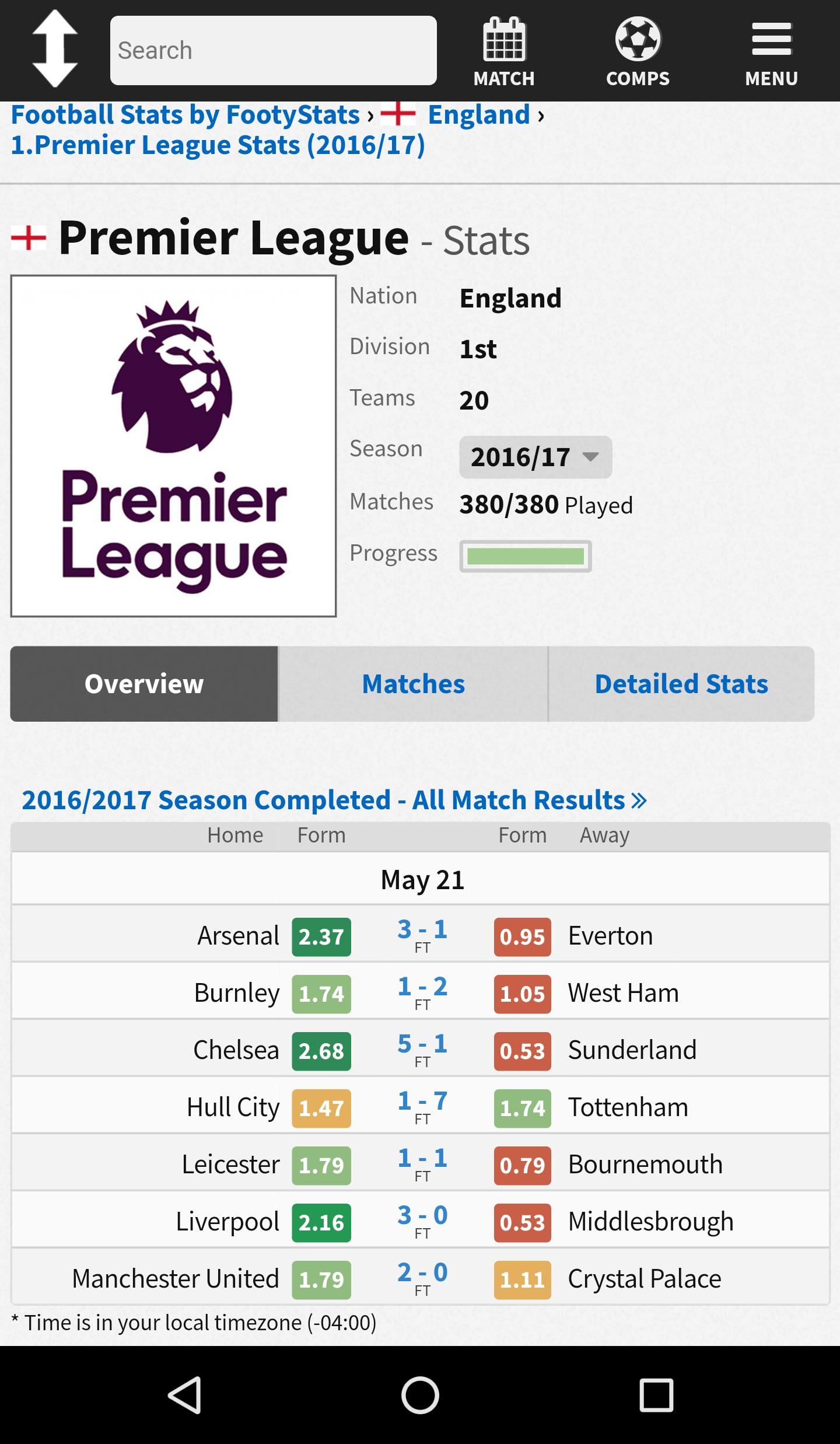 FootyStats - Soccer Stats for Betting for Android - APK Download