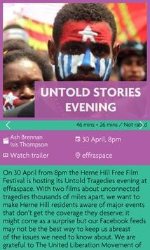 Herne Hill Free Film Festival apk screenshot