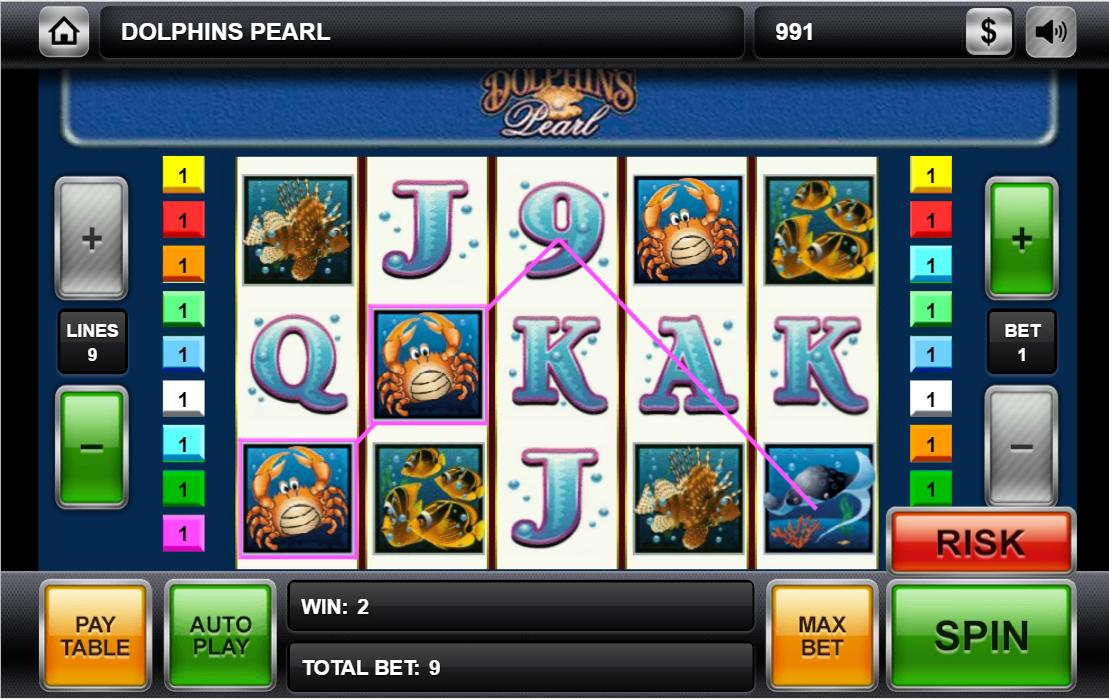 Dolphin Pearl Slot Machine Game