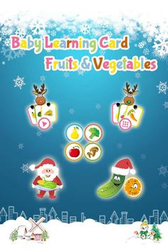 Baby Learning Card - Fruit poster