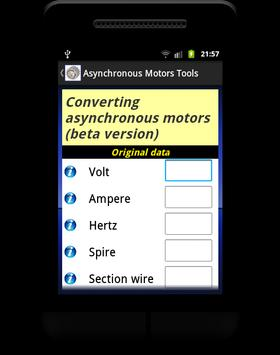 Asynchronous Motors Tools demo apk screenshot
