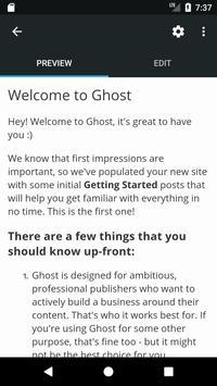 Ghost screenshot 1