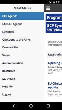 MHRA GCP/GLP Event App 2016 apk screenshot