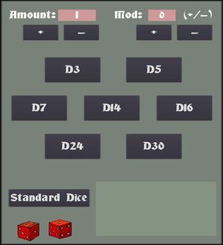 RPG Dice Roller apk screenshot