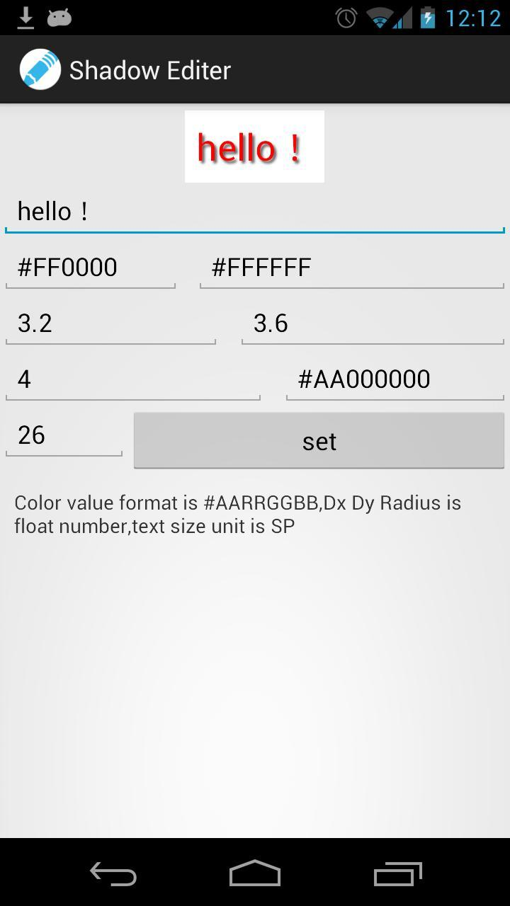 Shadow Text Editor for Android - APK Download