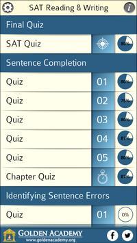 SAT : Reading & Writing FREE screenshot 1
